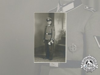An Early Wehrmacht Studio Photo of Gefreiter; SA Badge