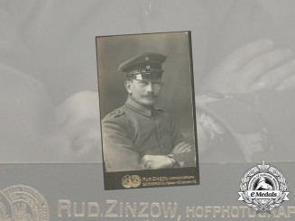 A First War Studio Portrait of German Pilot