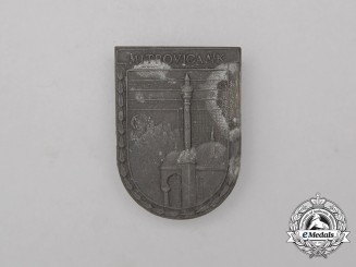"An Imperial Austria First War Cap Badge ""Mitrovica"" (Kosovo/Serbia)"
