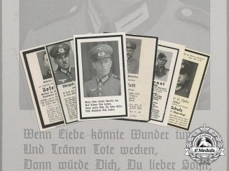 Six Second War German Obituaries
