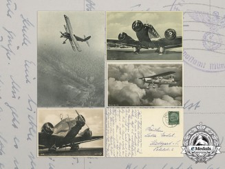 Four Second War Luftwaffe Postcards