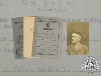 An SS Document Group to the 12th Company of Artillery Regiment 9