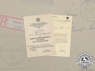 The Documents of Aerial Senior Engineer of Luftwaffe Department E3 of Testing Site