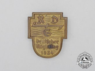"A 1934 ""Day of German Angler's"" Badge"