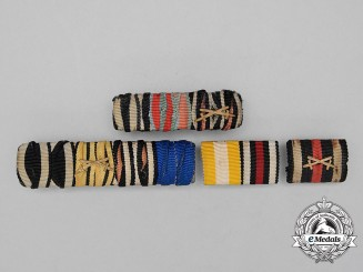 Four First War German Medal Ribbon Bars