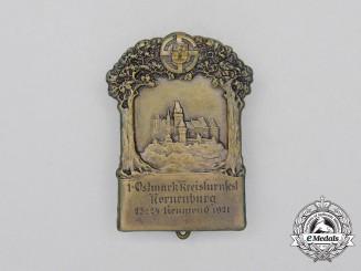 A 1921 1st Ostmark (Kronenburg) District Gymnastics Festival Badge by Reinemer & Spiegel
