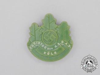 A 1935 NSDAP Cologne District Council Day Badge
