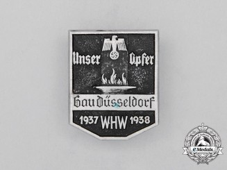 A 1937/38 WHW Düsseldorf Region Donation Badge