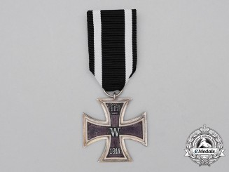 An Iron Cross 1914 Second Class; Solid Silver Version