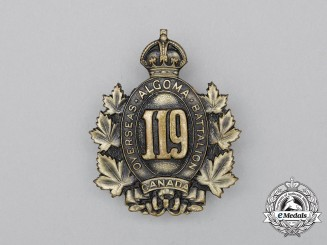 "A First War 119th Infantry Battalion ""Algoma Overseas Battalion"" Cap Badge"