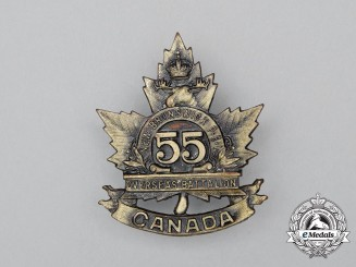 "A First War 55th Infantry Battalion ""New Brunswick.P.E.I. Battalion"" Cap Badge"