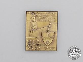 A 1937 Kyffhäuser League 100-Years of Soldier Comradery in Nördlingen Badge