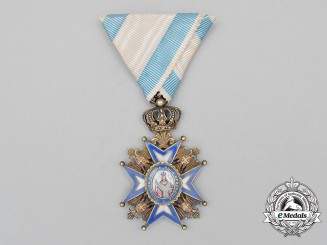 A Serbian Order of St. Sava; 5th Class Knight,