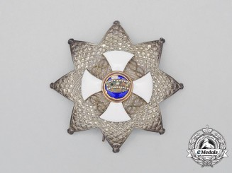 An Order of The Crown of Italy; Grand Officer Breast Star with Arabic Script