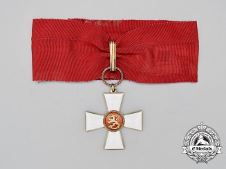 An Order of The Lion of Finland; Commander's Badge by A. Tillander