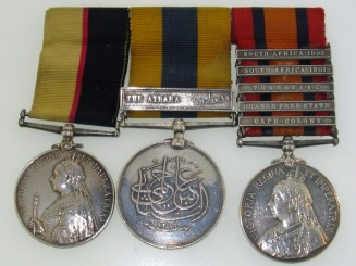 A Sudan and Boer War Group of Three