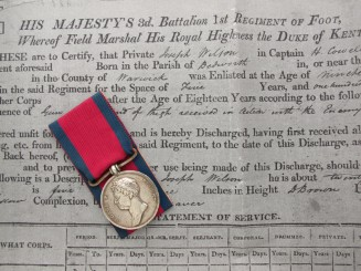 Waterloo Medal 1815  Royal Scotts