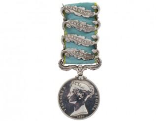 Crimea Medal 1854-56 - 4 Clasps