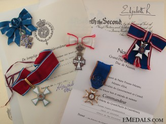 An Honorary L.V.O. group of five awarded to Mrs Vigdis Bjarnadottir