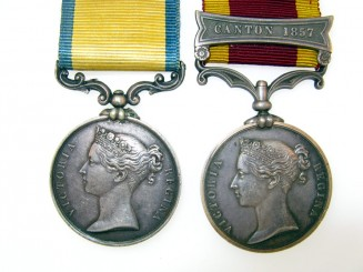 Pair: Private C. Fisher, Royal Marine
