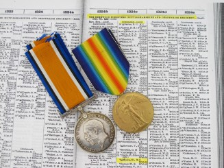 Awards to Lt.H.Moore - Military Cross Recipient