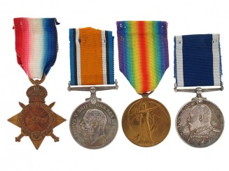 WWI Group of Four to G.F.J. Herd - Master-At-Arms