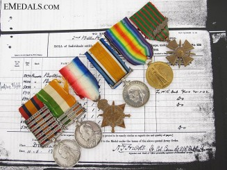 The Awards of Captain Thomas R. Brady, Royal Dublin Fusiliers