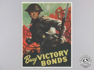 "A Rare Second War Canadian ""Buy Victory Bonds"" Propaganda Poster"