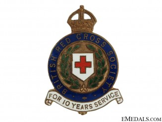 British Red Cross Society Ten Year Service Pin
