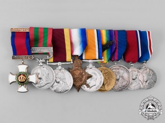 United Kingdom. An India, China, & First War Medal Bar to DSO Recipient, Lt. Col. Turner, 13th Bengal Lancers