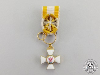 Prussia. An Outstanding & Early Miniature Red Eagle Order Officer's Cross, c.1800