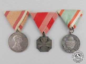 Austro-Hungarian Empire. A Lot of Three Medals and Decorations