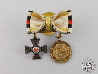 Prussia. A Franco Prussian Miniature Red Eagle Boutonniere Pair