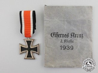 Germany. An Iron Cross 1939 Second Class, by Klein & Quenzer A.G. in its Packet of Issue