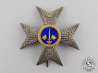 Sweden. An Order of the Sword, Commander Breast Star, Type II, c.1880 by Kretly, Paris