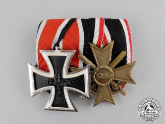 Germany. An Iron Cross 1939 and War Merit Cross 1939 Grouping; Alternative 1957 Version