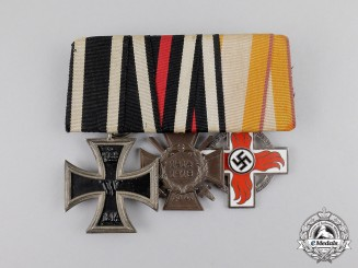 Germany. A Fire Service Decoration Medal Bar