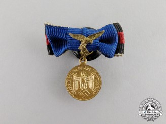 Germany.  A Miniature Luftwaffe 12 Years Service Medal
