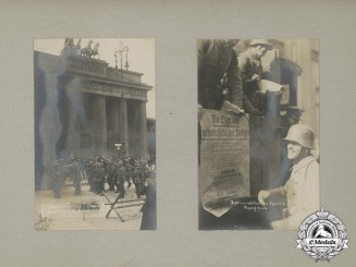 Germany. A Historically Significant WWI Photo Album Depicting the Failed 1920 Kapp-Lüttwitz Putsch