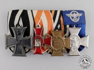 Germany. A Four Piece Medal Bar