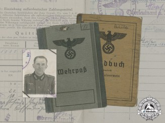 Germany. A Wehrpaß, Soldbuch, & Documents to Obergefreiter Sträuber, Lappland Shield