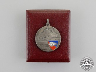 "Italy. A 132nd Artillery Regiment ""Ariete"" Commemorative Medal, Cased"