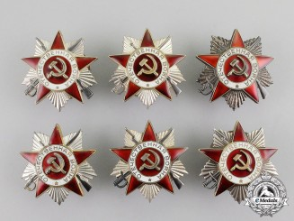 Russia, Soviet Union. A Lot of Six Orders of the Patriotic War, 2nd Class, Type 3 (post 1985)