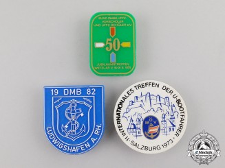 Austria/Germany. Three Post War Veteran's Organzation Badges