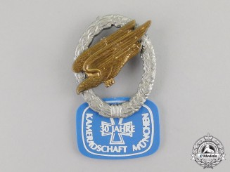 Germany. A 30-Year Paratrooper Veteran's League of Münich Badge