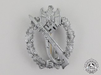 Germany. A Silver Grade Infantry Assault Badge by Fritz Zimmermann