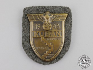 Germany. A Second War Period Wehrmacht Heer (Army) Issue Kuban Campaign Shield