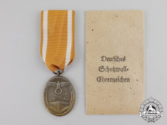 Germany. A West Wall Medal in its Packet of Issue by C. Poellath