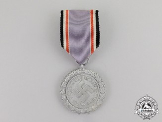 "Germany. An Air Raid Defense ""Luftschutz"" Medal; Second Class; Light Version"