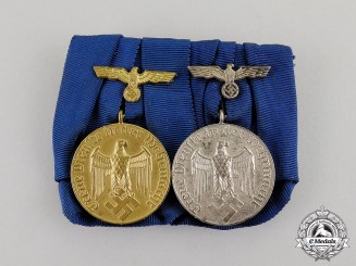 Germany. A Wehrmacht Heer (Army) Long Service Medal Pair